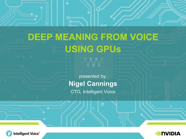 Deep Meaning from Voice Using GPUs