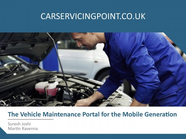 The Vehicle Maintenance Portal for the Mobile Generation