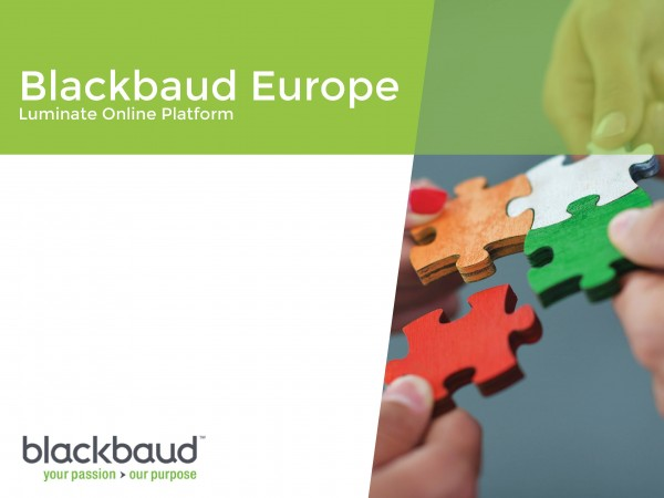blackbaud Europe Luminate Online Platform